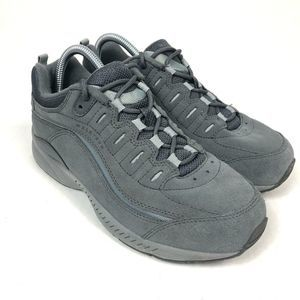 Easy Spirit Regine Suede Walking Shoe in Gray 8W